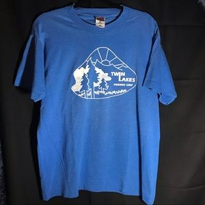 Vintage Friends Camp Tee Retro Tshirt Twin Lakes